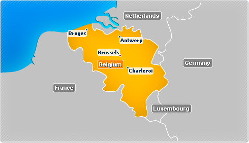 Belgium map