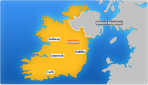 Ireland map