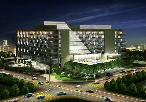 Oryx Rotana Exterior Hotel Night View